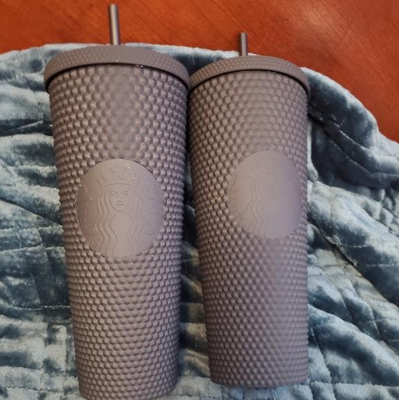 2 Starbucks Black Matte Tumblers